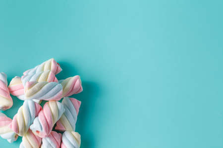 Twisted marshmallow on vibrant background
