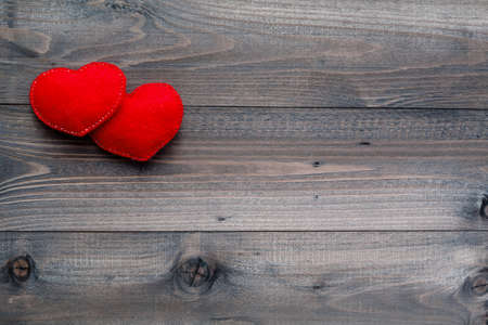 1 2 month: Aged wooden background with red heart in corner