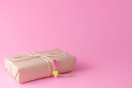 minimalistic: Minimalistic giftbox from recicled paper Stock Photo