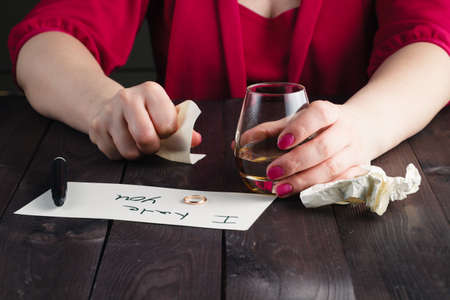 crush on: woman crush paper note and drink alcohol