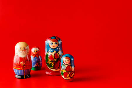 babushka: Colorful Russian Nesting Dolls Matreshka Babushka Are Most Popular Souvenir From Russia