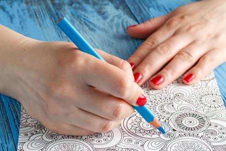 tendency: adult coloring books colored pencils anti-stress tendency