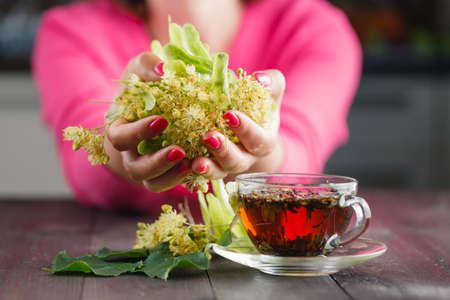 limetree: Linden tree flowers used for tea from sore throat