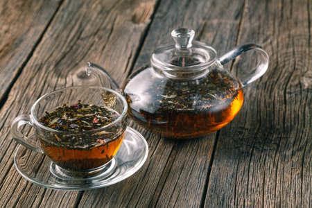 Mix of bio herbal tea 스톡 콘텐츠