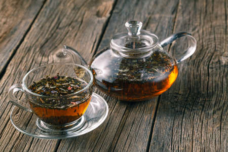 Mix of bio herbal tea Stock Photo