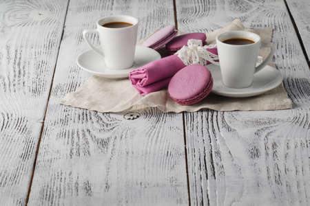 chic: coffee time on shabby chic background