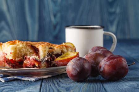 bavarian: slice of bavarian plumcake