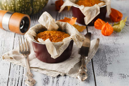 Cake with nuts and pumpkin Stock Photo