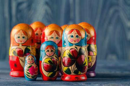 Family of matreshka Stock Photo