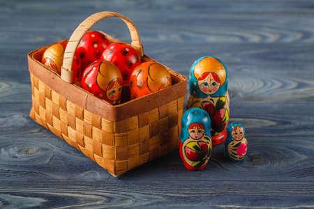 russian nesting dolls: Russian nesting dolls ( babushkas or matryoshkas )