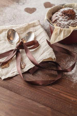 chocolaty: Chocolate Cupcakes with sugar hearts
