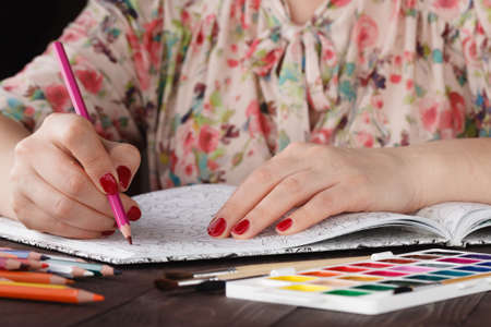 autocuidado: Wonam relaxing by painting adult coloring book