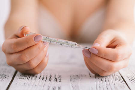 Temperature measurement in a natural family planning method.