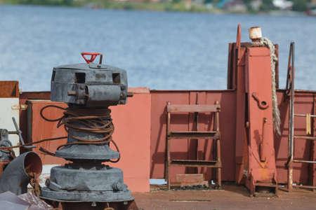Rust at engine fishing boat Stock Photo