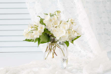 Bouquet Of White Flowers In A Vase Stock Photo Picture And Royalty