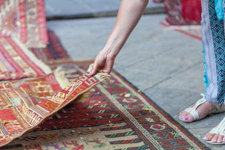 Georgian carpets handmade with national ornaments