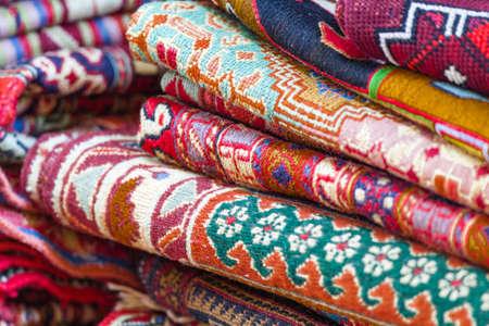 Georgische Kaukasische antieke Kelim tapijten Stockfoto