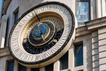 Astronomical clock on the building facade in Batumi