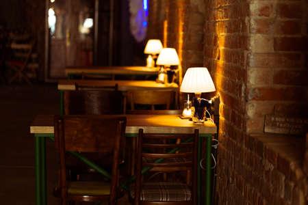 Evening street cafe Stock Photo