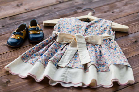 Child dress on hanger