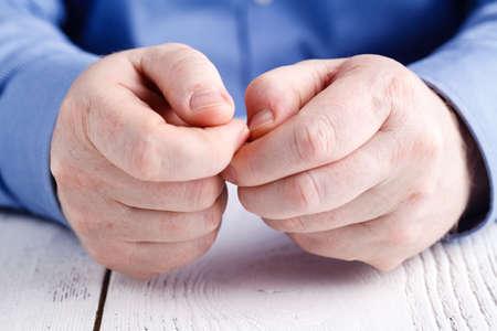 bad habit of nibbling nails