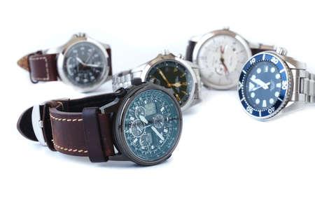 Men wrist watch isolate on white
