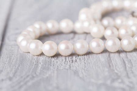 Wedding background with pearls and sea shell. Stock Photo - 104277925