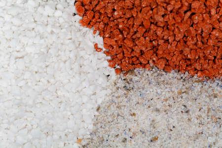Composite mineral fertilizers. Big heap on stone Stock Photo - 116102257