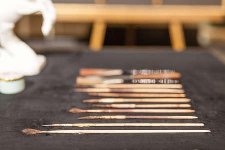 Art workshop details Stok Fotoğraf