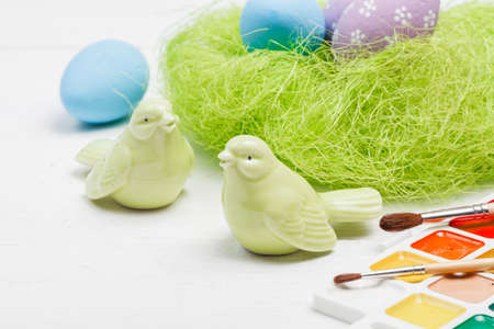 Easter figures painted by hand Stockfoto
