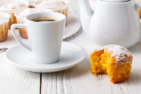 Homemade Autumn Pumpkin Muffin Ready to Eat Banco de Imagens