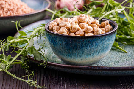 Bowl with chickpeas