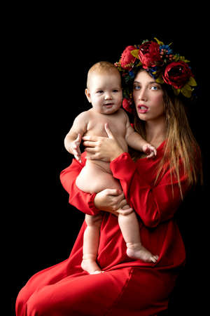 Yоung mother witр baby on hand