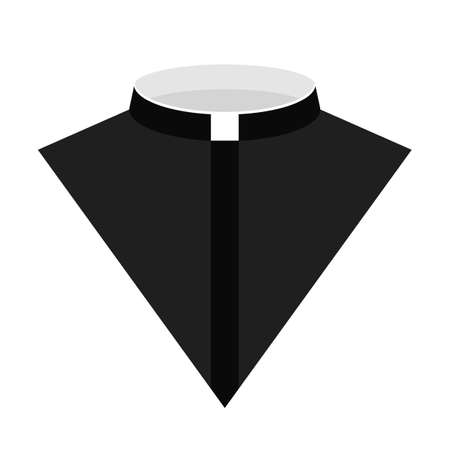 Catholic priest dress icon vector illustration. Priest vector icon for web. Priest costume icon isolated on a white background.