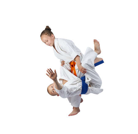 arts: Children athletes train judo throws