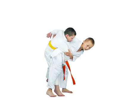 performed: Judo techniques performed two athletes in judogi