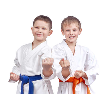 jiu jitsu: Two athletes doing karate technique