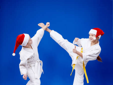 thai arts: Girl and boy are training paired exercises karate Stock Photo