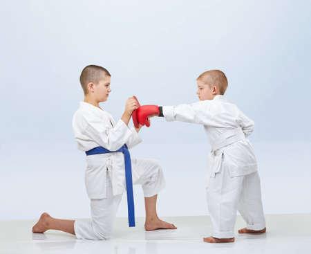 simulator: Little karateka beats punch on the simulator that brother keeps