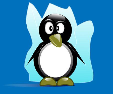 arctic: Penguin Arctic Illustration