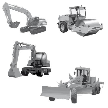 motor de carro: maquinaria de construcción