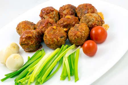 marinara sauce: Meatballs with tomato sauce