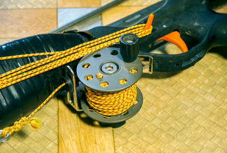 The robust coil with rope for spearfishing