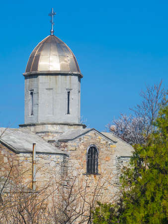 Medieval tower of the Iverian church in Feodosia, Crimea