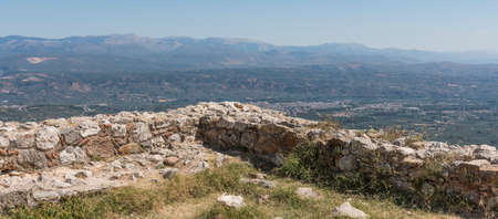 greece granite: The valley under the fortress wall