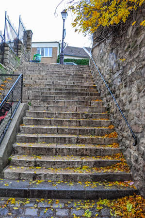 parapet wall: Stairs Of Montmartre