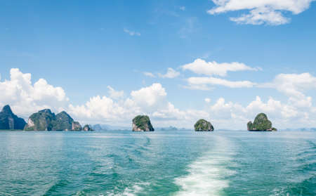 phang nga: The sky in the Gulf Phang Nga Stock Photo