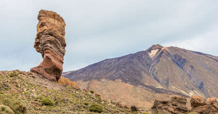 noon: The finger of God at the foot of the Teide volcano