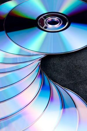 DVD on black background