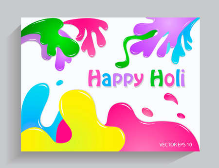 Colorful background Happy Holi Illustration